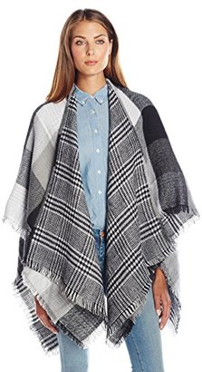 Collection XIIX Women's Checkboard Double Face Ruana $58 thestylecure.com