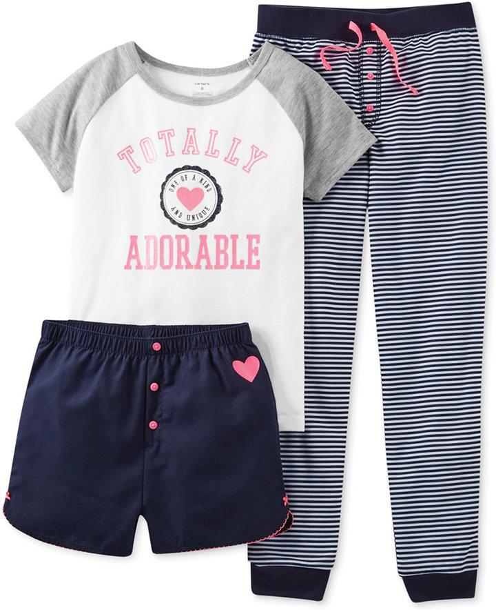 Carter's Girls' 3-Piece Totally Adorable Pajamas