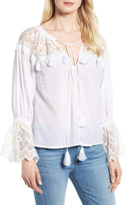 Kas Berkley White Lace Cotton Blend Top