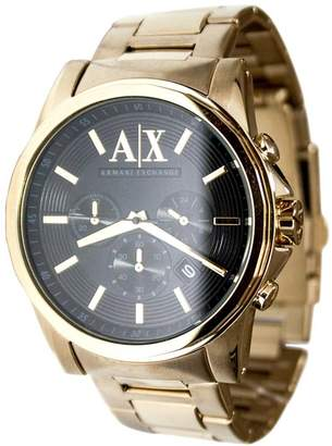 Armani Exchange A|X  AX2095 Men's Dial Gold Plated Steel Bracelet Chronograph Watch
