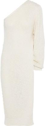 Stella McCartney One-shoulder Open-knit Sweater