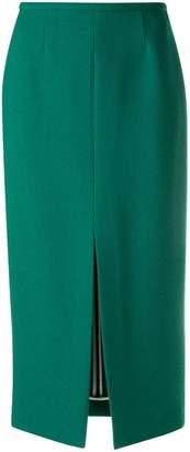 Rochas front slit pencil skirt