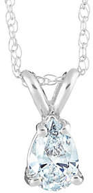 Affinity Diamond Jewelry Pear Diamond Pendant, 14K White Gold, 3/4 ct, by Affinity