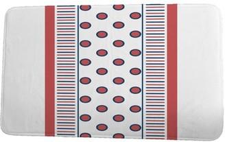 Simply Daisy 24 x 36 Inch Upscale Getaway Center Stripe Orange (Coral) Stripe Print Bath Mat