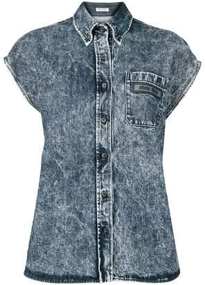 Miu Miu short sleeve denim shirt