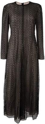 Lanvin hole draped detailing dress