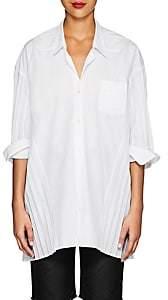 Comme des Garcons Junya Watanabe Women's Pleated Poplin Voluminous Shirt - White