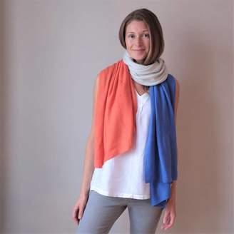 Plum & Ivory Multi Colour Cashmere Wool Wrap Shawl