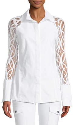 Raina Anatomie Lace-Sleeve Shirt