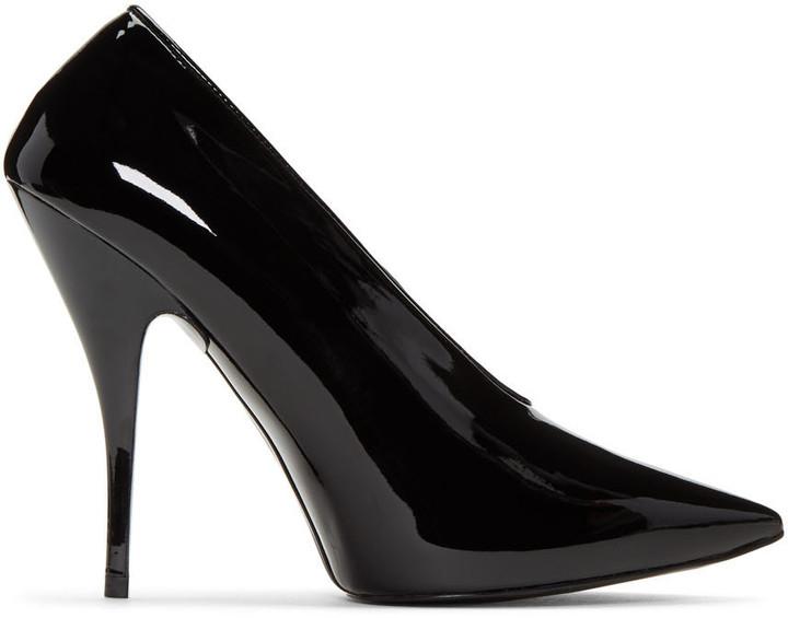 Stella McCartney Black Patent Pointed Heels