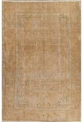 "Astoria Grand Antique Muted Miranda Persian Oriental Hand-Knotted Distressed Rug 9'6""X6'5"" Astoria Grand"