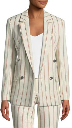 BA&SH Fedor Striped Double-Breasted Blazer