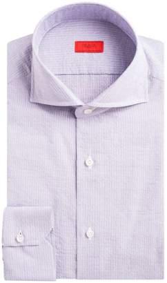 Isaia Navetta Pinstripe Button-Down Shirt