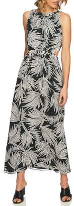1 STATE 1.STATE Tropical Print Maxi Dress