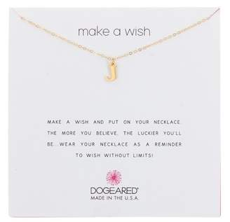 Dogeared 14K Gold Vermeil Make a Wish Open J Charm Necklace