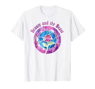 Disney Beauty & The Beast Glass Rose Logo Graphic T-Shirt