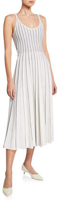 Gabriela Hearst Zeleia Sleeveless Bicolor Pleated