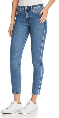 Nobody Cult Comfort Ankle Skinny Jeans in Blue Line - 100% Exclusive