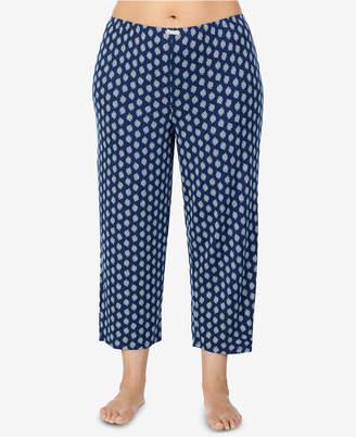 Ellen Tracy Plus Size Printed Pajama Pants
