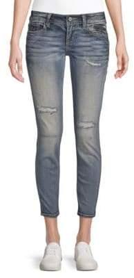 Miss Me Distressed Zip Jeans