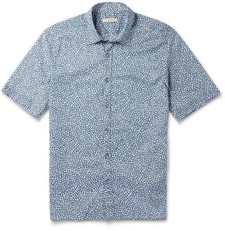 Burberry Floral-Print Cotton Short-Sleeved Shirt - Men - Blue
