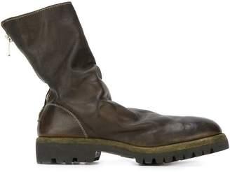 Guidi back zip mid-calf boots
