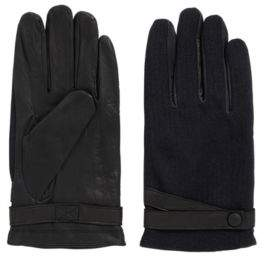 HUGO BOSS Nappa Leather & Wool Glove Gossling 9 Black