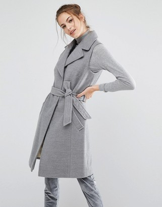 Oasis Sleeveless Belted Smart Coat $113 thestylecure.com
