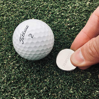 Wue Roman Numerals Personalised Golf Ball Marker