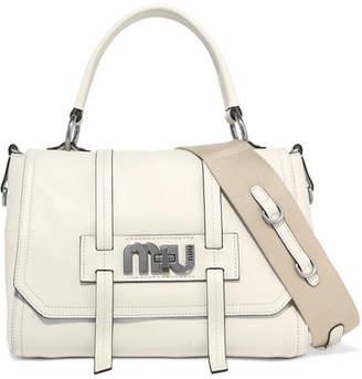 Miu Miu Grace Leather Shoulder Bag - White