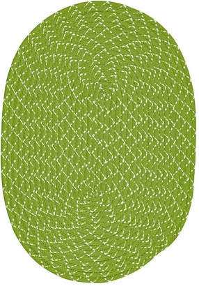 BETTER TRENDS Better Trends Sunsplash Braided Oval Reversible Rugs