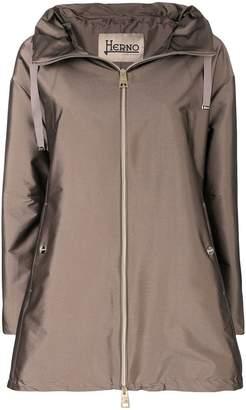 Herno shiny A-line rain coat