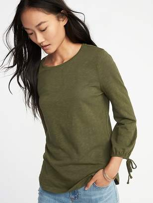 Old Navy Relaxed Cinched-Sleeve Top for Women