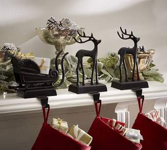 Pottery Barn Santa's Sleigh Stocking Holders