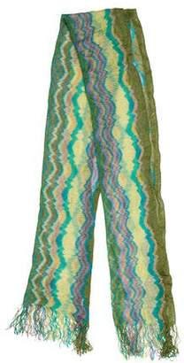 Missoni Knit Raw-Edge Scarf