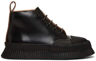 Jil Sander Black Roana High-Top Sneakers