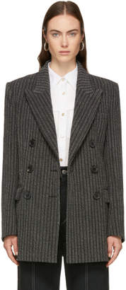 Isabel Marant Grey and White Jaxen Cowens Costard Blazer