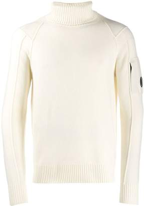 24330a0d25b Mens White Roll Neck Sweater - ShopStyle UK