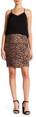 Vince Camuto Leopard Print Skirt (Petite)