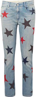 Stella McCartney Printed Slim Boyfriend Jeans - Mid denim
