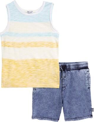 Splendid Muscle Shirt & Shorts Set