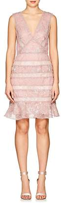 J. Mendel Women's Metallic Lace Cocktail Dress - Lt Pink