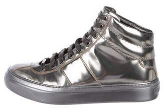 Jimmy Choo Leather High-Top Sneakers