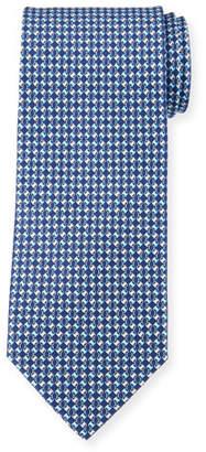 Salvatore Ferragamo Diamond Chain Silk Tie