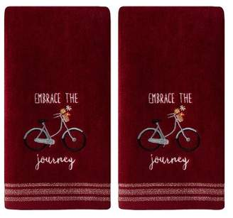 Saturday Knight Ltd. 2pc Embrace The Journey Hand Towel Set Burgundy - SKL Home