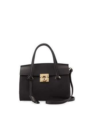 Salvatore Ferragamo Mara Lock Story Mini Crossbody Bag, Nero $1,490 thestylecure.com