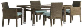HomeVance Outdoor HomeVance Ravinia Brown Wicker Patio Dinning Table & Chair 5-piece Set