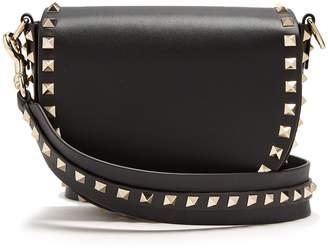 Valentino Rockstud Saddle mini leather shoulder bag