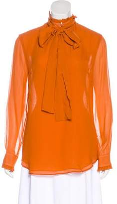 Nicholas Long Sleeve Silk Top