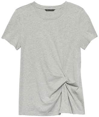 Banana Republic Petite SUPIMA® Cotton Side-Twist T-Shirt